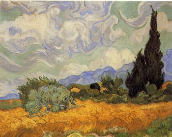 Vincent Van Gogh : Wheatfield with Cypresses