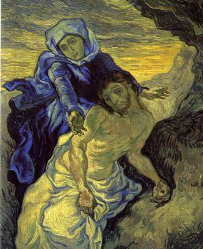 Vincent Van Gogh : Pieta(after Delacroix)