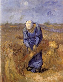Vincent Van Gogh : Woman Binding Sheaves