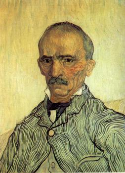 Vincent Van Gogh : Portrait of the Chief Orderly(Trabuc)