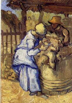 Vincent Van Gogh : Sheep-Shearers(after Millet)