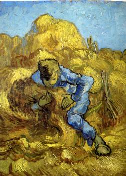 Vincent Van Gogh : Sheaf-Binder(after Millet)