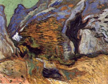 Vincent Van Gogh : A Small Stream in the Mountains