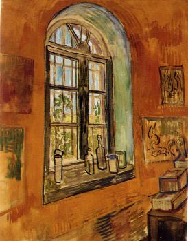 Vincent Van Gogh : Window of Vincents Studio at the Asylum