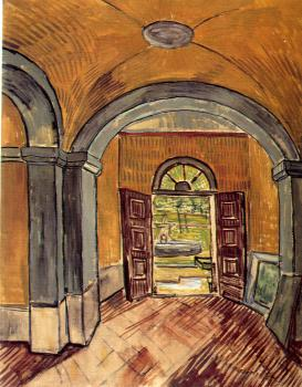 Vincent Van Gogh : The Vestibule of the Asylum