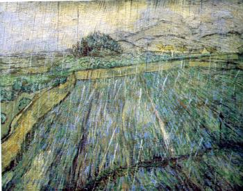 Vincent Van Gogh : Enclosed Field in the Rain