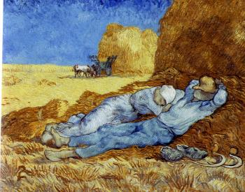 Vincent Van Gogh : Noon:Rest(afterMillet)