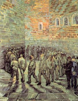 Vincent Van Gogh : Prisoners Round(after Gustave Dore)
