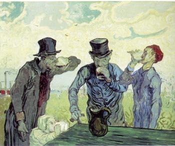 Vincent Van Gogh : Men Drinking(afterDaumier)