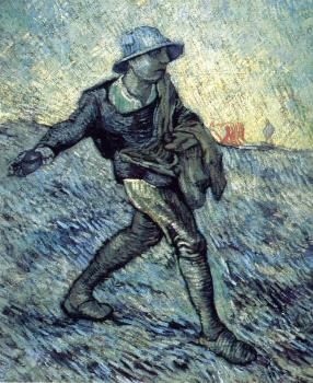 Vincent Van Gogh : The Sower(after Millet)