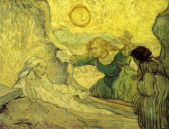 Vincent Van Gogh : The Raising of Lazarus(after Rembrandt)