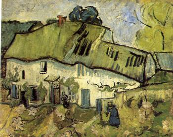 Vincent Van Gogh : A House and Two Figures
