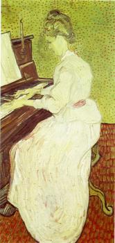 Vincent Van Gogh : Marguerite Gachet at the Piano