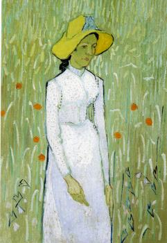 Vincent Van Gogh : Girl,Standing in the Wheat