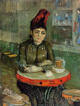 Vincent Van Gogh : Agostina Segatori Sitting in the Cafe du Tamourin
