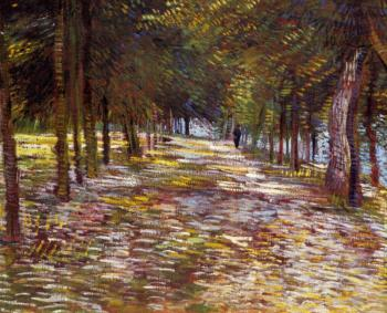 Vincent Van Gogh : Avenue in the Voyer, d'Argenson Park at Asnieres