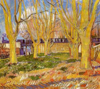 Vincent Van Gogh : Avenue of Plane Trees near Arles Station