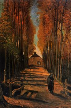Vincent Van Gogh : Avenue of Poplars in Autumn