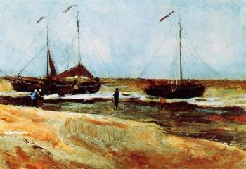 Vincent Van Gogh : Beach at Scheveningen in Calm Weather