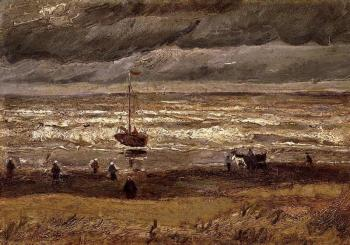 Vincent Van Gogh : Beach at Scheveningen in Stormy Weather