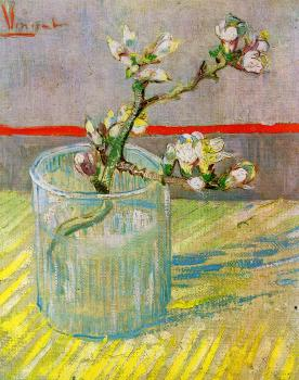 Vincent Van Gogh : Blossoming Almond Branch in a Glass II
