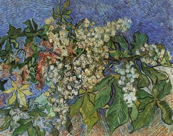 Vincent Van Gogh : Blossoming Chestnut Branches II