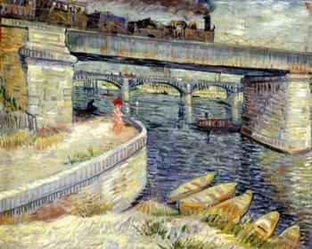 Vincent Van Gogh : Bridges Across the Seine at Asnieres II