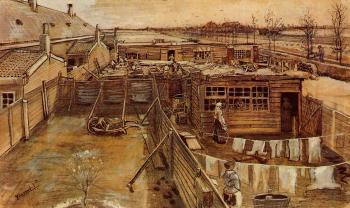 Vincent Van Gogh : Carpenter's Workshop, Seen from the Artist's studio II