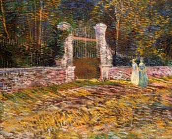Vincent Van Gogh : Entrance of Voyer, d'Argenson Park at Asnieres