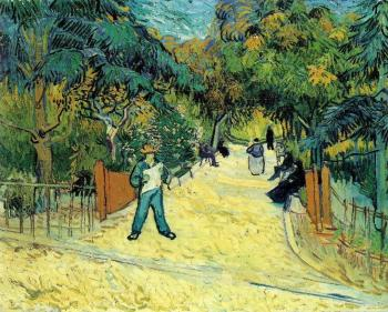Vincent Van Gogh : Entrance to the Public Garden in Arles