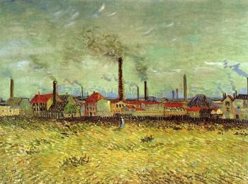 Vincent Van Gogh : Factories at Asnieres Seen from the Quay de Clichy