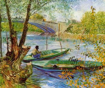 Vincent Van Gogh : Fishing in the Spring, Pont de Clichy