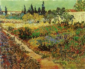 Vincent Van Gogh : Flowering Garden with Path