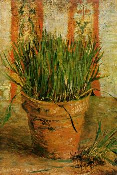 Vincent Van Gogh : Flowerpot with Chives II