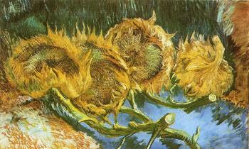 Vincent Van Gogh : Four Cut Sunflowers