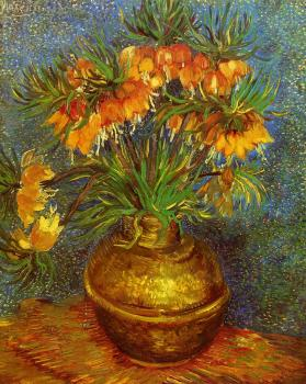 Vincent Van Gogh : Fritillaries in a Copper Vase II