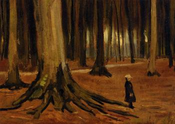 Vincent Van Gogh : Girl in the Woods II