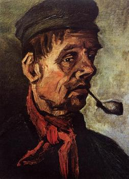 Vincent Van Gogh : Head of a Peasant with a Pipe