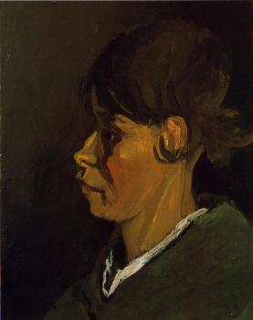 Vincent Van Gogh : Head of a Peasant Woman, Left Profile