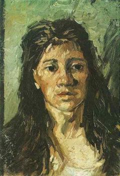Vincent Van Gogh : Head of a Woman with her Hair Loose II