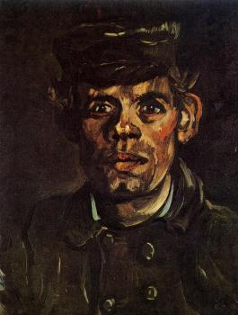 Vincent Van Gogh : Head of a Young Peasant in a Peaked Cap