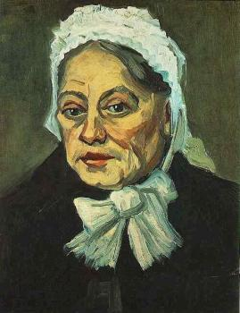 Vincent Van Gogh : Head of an Old Woman with White Cap