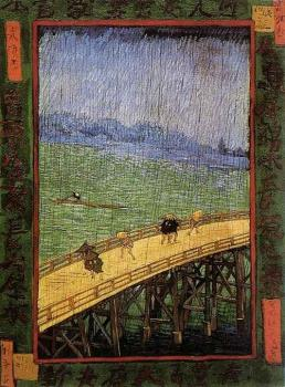 Vincent Van Gogh : Japonaiserie, Bridge in the Rain