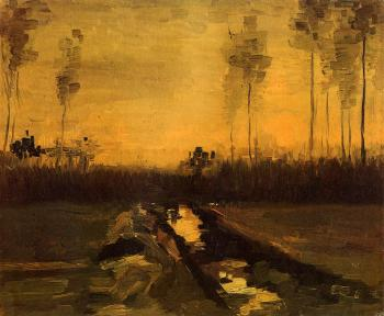 Vincent Van Gogh : Landscape at Dusk