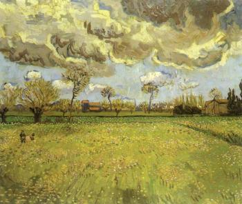 Vincent Van Gogh : Landscape under Stormy Skies