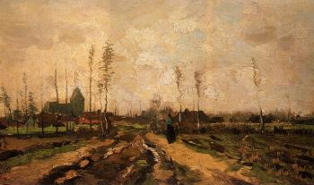 Vincent Van Gogh : Landscape with Church and Farms II