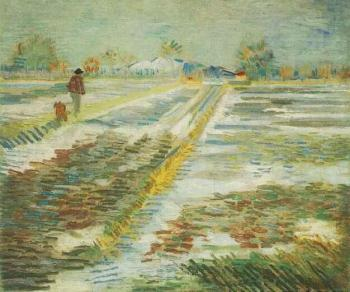 Vincent Van Gogh : Landscape with Snow II