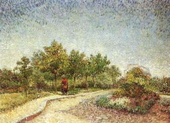Vincent Van Gogh : Lane in Voyer d'Argenson Park at Asnieres