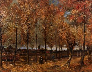 Vincent Van Gogh : Lane with Poplars III