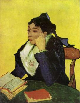 Vincent Van Gogh : L'Arlesien, Madame Ginoux with Books